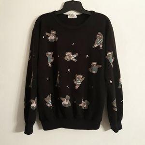 Retro 80's Aerobic Teddy Bears Sweatshirt